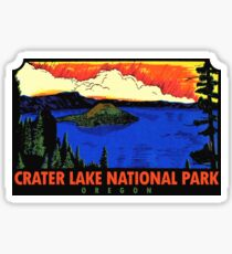 Crater Lake National Park Oregon Vintage Travel Decal Sticker