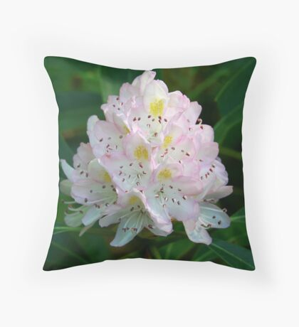 Great Rhododendron Throw Pillow
