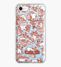 Red Panda all over pattern spread iPhone Case/Skin