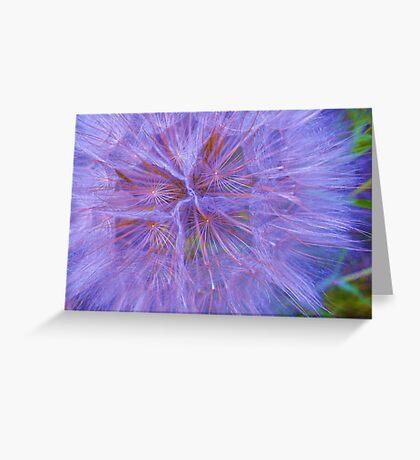Puffball Blue Greeting Card