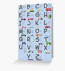 Transportation/Vehicles Alphabet Greeting Card