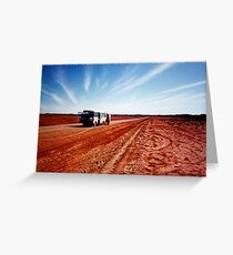 outback bus Greeting Card