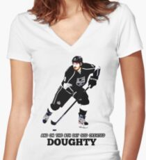 On the 8th Day - God Created Doughty Opt. 4 Women's Fitted V-Neck T-Shirt