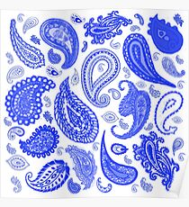 Paisley Blue by Julie Everhart Poster