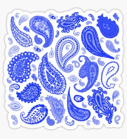 Paisley Blue by Julie Everhart Sticker