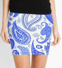Paisley Blue by Julie Everhart Mini Skirt