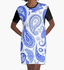 Paisley Blue by Julie Everhart Graphic T-Shirt Dress