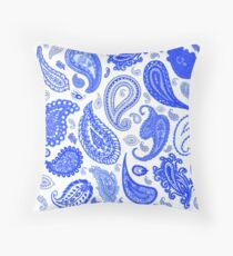Paisley Blue by Julie Everhart Throw Pillow
