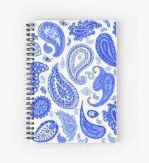 Paisley Blue by Julie Everhart Spiral Notebook