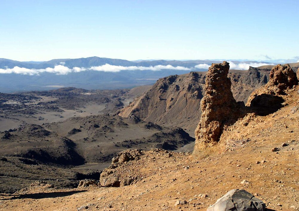 Tongariro Crossing view by Danielle Kennedy Boyd
