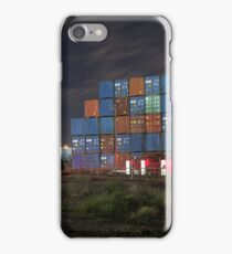 Containers at Night iPhone Case/Skin