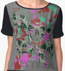 Colorful Skulls Chiffon Top