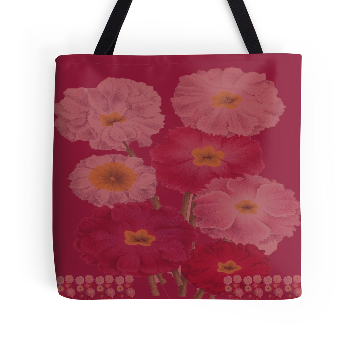 """Magenta Home Decoration: """"Vintage Floral Magenta And Pink Colors Home Decor"""" Tote"""
