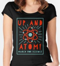 Up and Atom! - March for Science Women's Fitted Scoop T-Shirt