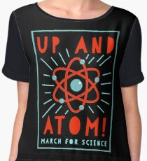 Up and Atom! - March for Science Women's Chiffon Top