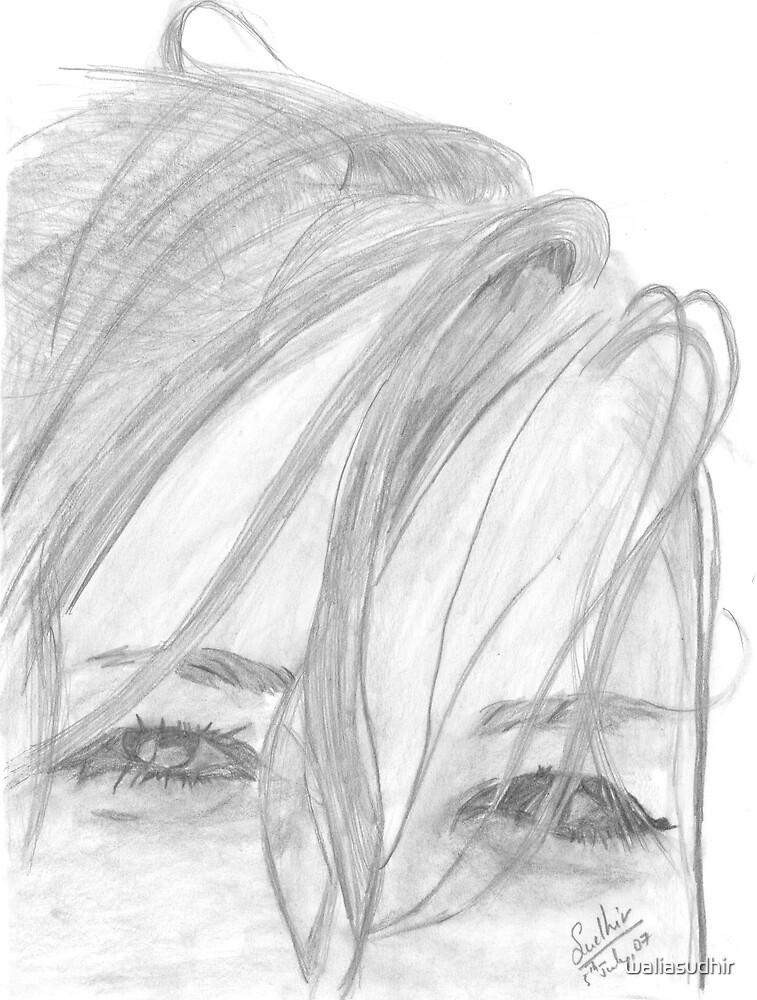 Pencil sketch eyes by waliasudhir
