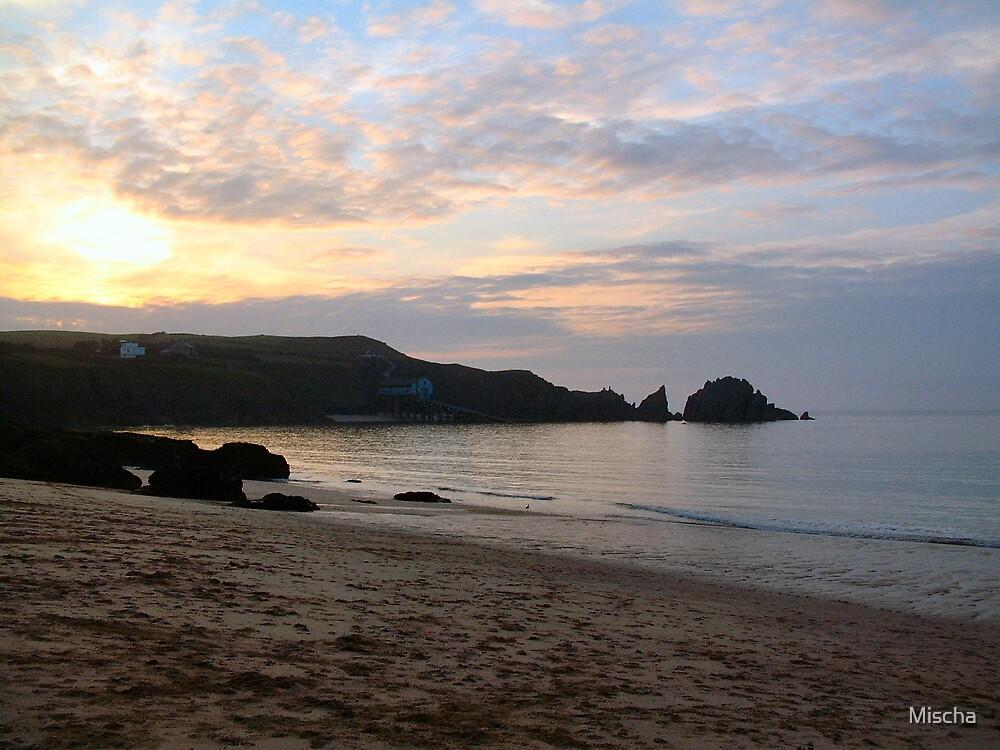 Sunset on the Beach by Mischa