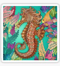 Seahorse scenery Sticker
