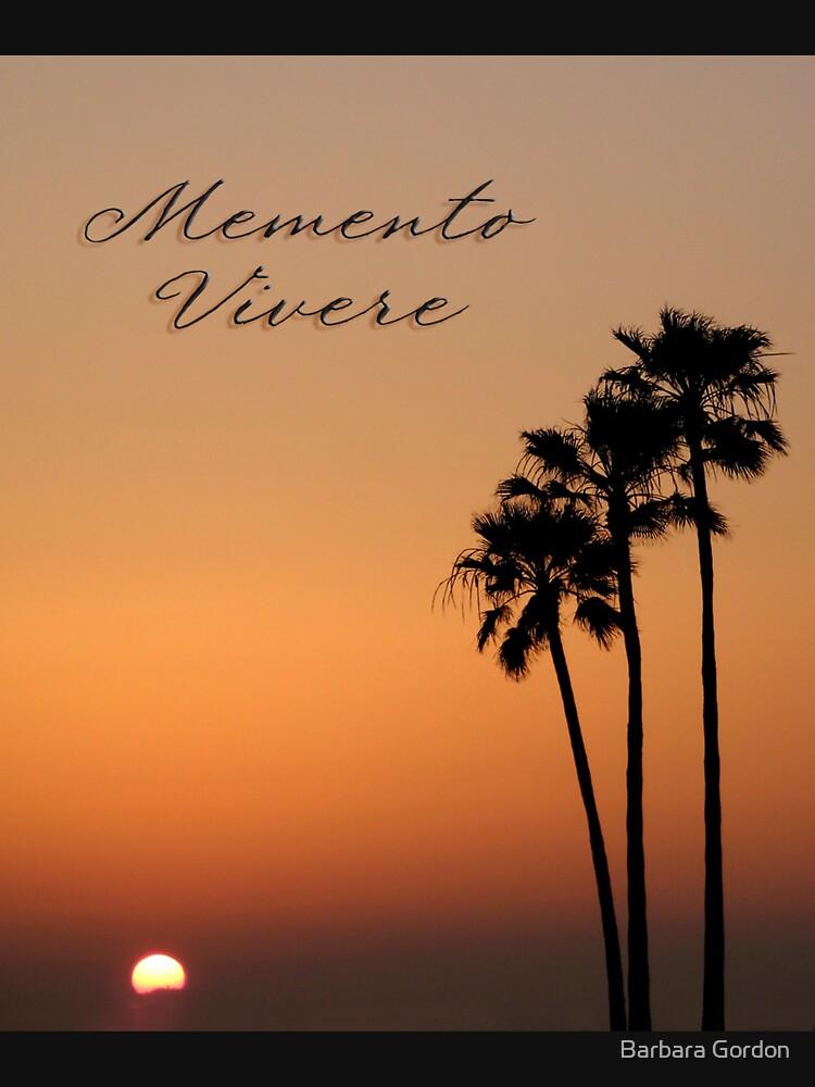 Three Palm Sunset - Memento Vivere by BGPhoto
