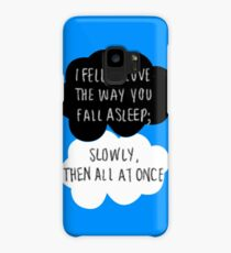 I Fell in Love the Way You Fall Asleep Case/Skin for Samsung Galaxy