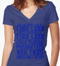 Aint No Party Like a Time Lord Party Women's Fitted V-Neck T-Shirt