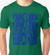 Aint No Party Like a Time Lord Party T-Shirt