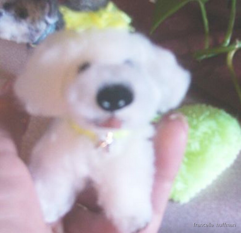 bichon pup miniature by francelle by francelle  huffman