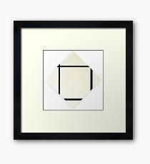 Composition in Black and White (Painting 1) Piet Mondrian,  Framed Print