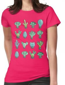 Cute cactus and succulents Womens Fitted T-Shirt