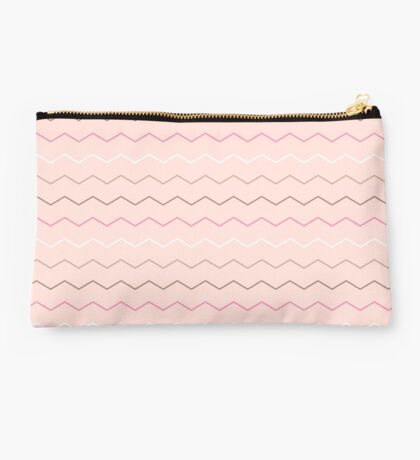 Pink Chocolate Chevron Pattern Studio Pouch