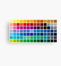 color chart background Canvas Print