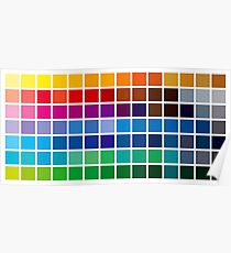 color chart background Poster