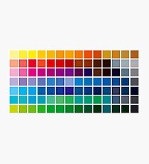 color chart background Photographic Print