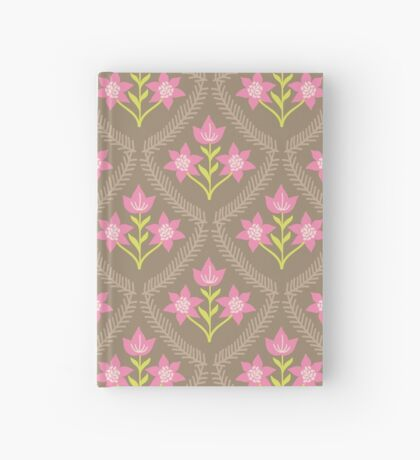 Chocolate Pink Flowers Hardcover Journal