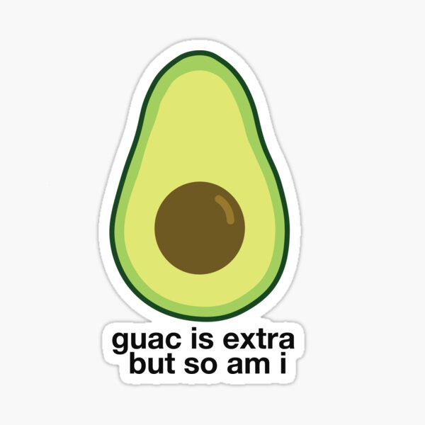 Extra Avocado Sticker