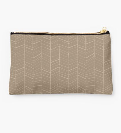 Mocha Latte Coffee Pattern Studio Pouch