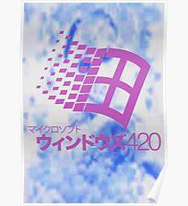 Yung lean vaporwave blue windows  Poster