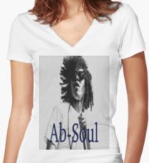 Ab-Soul Women's Fitted V-Neck T-Shirt