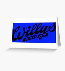 Willys Knight Greeting Card