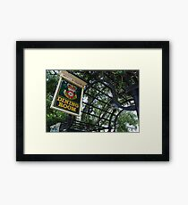 Rose & Crown Sign Framed Print