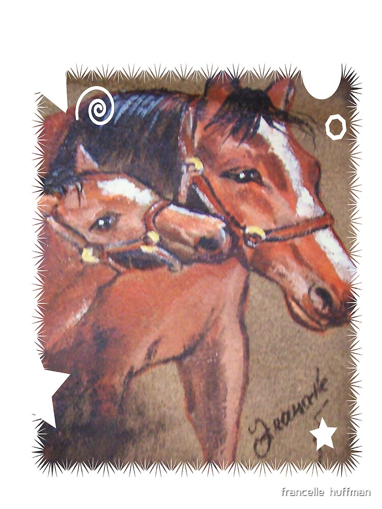 mare and colt  with star design by franniesbest