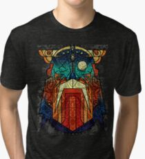 ODIN WODAN geometric vikings ornament art Tri-blend T-Shirt