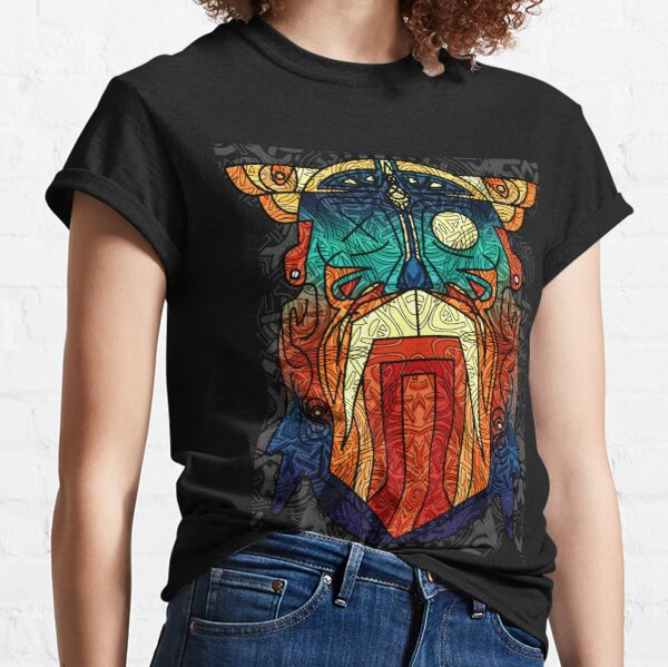 ODIN WODAN geometric vikings ornament art Classic T-Shirt