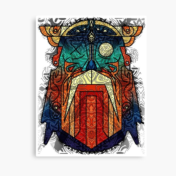 ODIN WODAN geometric vikings ornament art Canvas Print