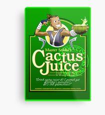 Master Sokka's Cactus Juice Metal Print