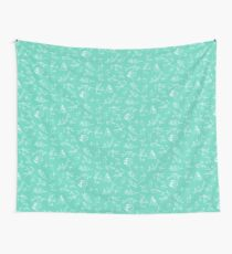 Teal coral Wall Tapestry