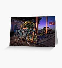travel bicycle Route 66 Sunflowers - Old Rt 66 Texas USA wall tapestry pillow americana Greeting Card