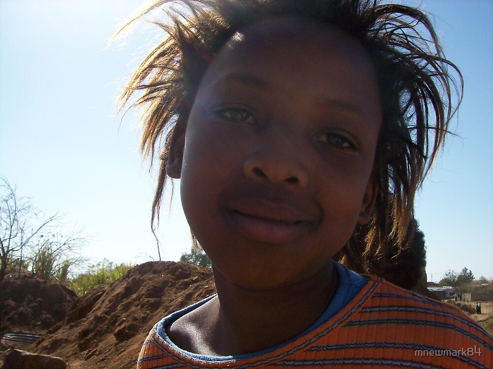 Portrait of a native South African girl by mnewmark84