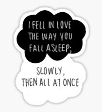 I Fell in Love the Way You Fall Asleep Sticker
