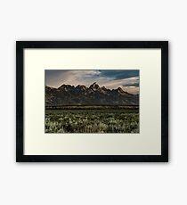 Travel Mountain Nature Trees Tapestry - Grand Tetons - Jackson Hole Wyoming Framed Print